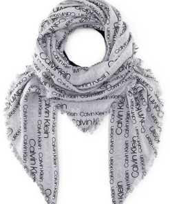 Schal Logo Scarf W von Calvin Klein in grau für Damen