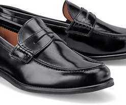 Penny-Loafer Nero von Lottusse in schwarz für Herren. Gr. 42 2/3,43 1/3,45 1/3