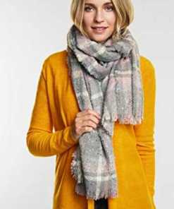 Street One - Cosy Schal mit Folierung in Frost Grey Melange : One Size