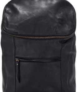 Leder-Rucksack von Cox in schwarz für Damen