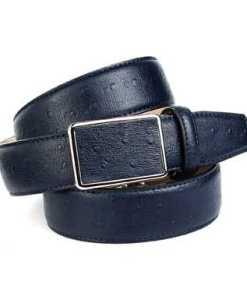 Anthoni Crown Ledergürtel mit Straußen-Prägung