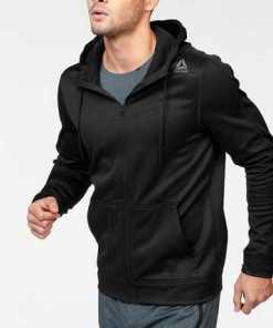 Reebok Funktions-Kapuzensweatjacke »WORKOUT READY ELITAGE FULLZIP HOOD«
