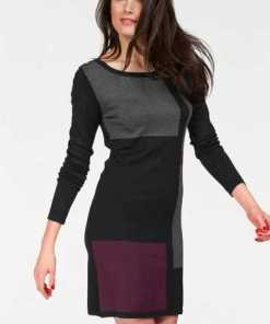 Vivance Strickkleid im Colourblocking