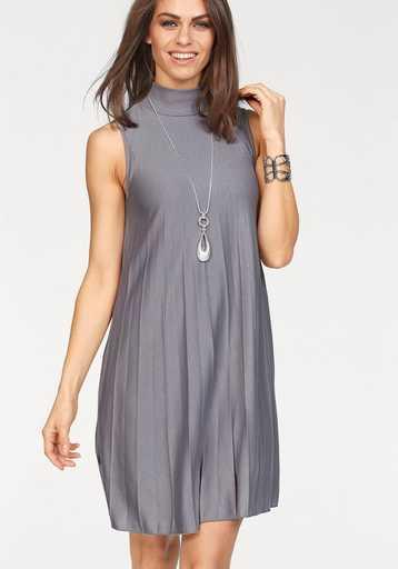 Laura Scott A-Linien-Kleid mit effektvollen Plisseefalten