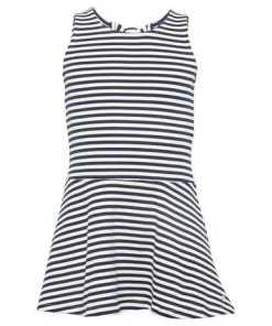 TOM TAILOR A-Linien-Kleid »gestreiftes Kleid mit Volant-Ansatz«