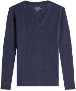 Majestic V-Pullover aus Kaschmir und Wolle