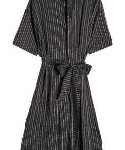 Isabel Marant Gestreiftes Kleid aus Seide und Cupro