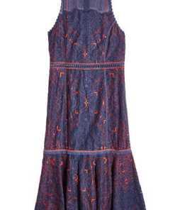 Jonathan Simkhai Ärmelloses Kleid mit Baumwolle und Spitze