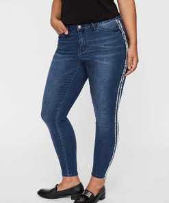 JUNAROSE Knöchel Rüschen Jeans
