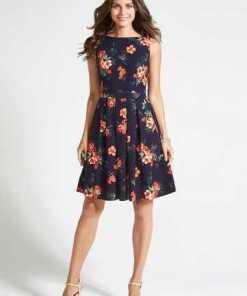 Apricot Sommerkleid »Hibiscus Skater Dress« mit floralem Druck