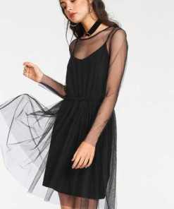 minimum Partykleid »Majbrith dress« (Set, 2 tlg) mit Unterkleid und Rüschen-Details