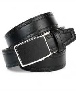 Anthoni Crown Gradkantiger Ledergürtel für Jeans