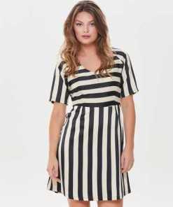 JACQUELINE de YONG Print Kleid mit kurzen Ärmeln