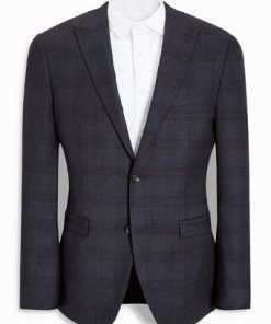 Next Karierter Slim-Fit Baukasten-Anzug-Sakko