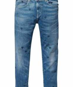 Scotch & Soda Boyfriend-Jeans »Petit Ami« mit Allover-Herzchen-Stickerei