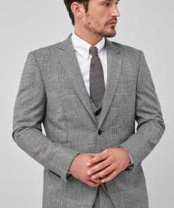 Next Slim Fit Anzug aus britischer Wolle: Sakko