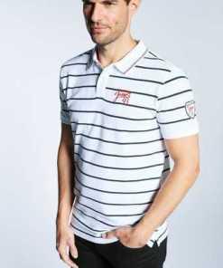 Oklahoma Jeans Herren Poloshirt »mit zweifarbigem Kragen«