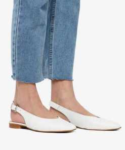 Bianco Spitze Leder Sandalen