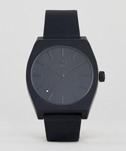 Adidas - Z10 Process - Armbanduhr aus Silikon in Schwarz - Schwarz