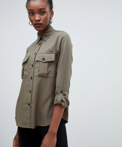 New Look - Robustes Hemd - Grün