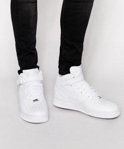 Nike - Air Force 1 Mid '07 - Weiße Sneaker
