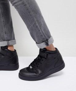 Nike - Air Force 1 Mid '07 - Schwarze Sneaker