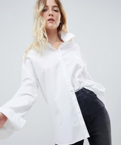 Cheap Monday - Popline-Hemd - Weiß