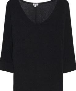 Drapey Lux Dolman Sleeve Black