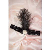 20s Her Ladyships Feather Headband