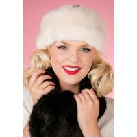 50s Monroe Headband in Cream