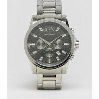 Armani Exchange - AX2092 - Armbanduhr aus rostfreiem Edelstahl - Silber