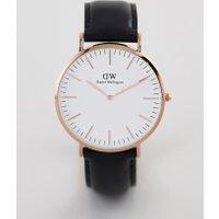 Daniel Wellington - Classic Sheffield - Armbanduhr in Roségold mit Lederarmband