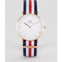 Daniel Wellington - Canterbury - Klassische Uhr mit Canvas-Armband