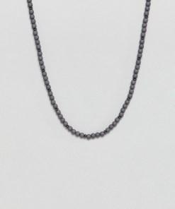 Icon Brand - Graue Halskette mit Perlen - Grau