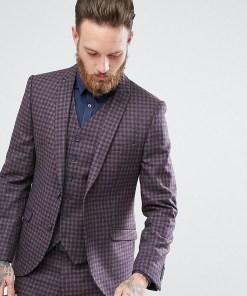 Heart & Dagger - Schmale Anzugjacke aus kariertem Tweed - Grau