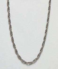 Sacred Hawk - Halskette mit verdrehtem Design - Silber