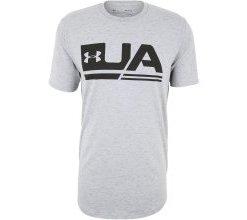 UNDER ARMOUR Funktionsshirt 'Sportstyle' graumeliert / schwarz