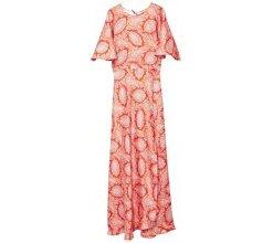 MANGO Kleid 'Dressip-a' orange / rot / weiß