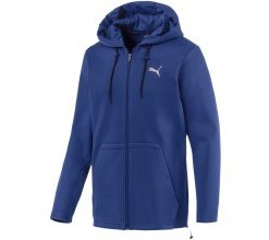 PUMA Sweatjacke 'Q4 VENT Hooded Jacket' blau / silber