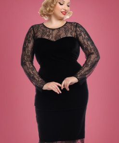 50s Illona Pencil Dress in Black