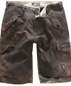 Rock Rebel by EMP Army Vintage Shorts Shorts braun