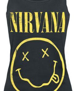 Nirvana Smiley Girl-Top schwarz