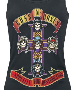 Guns N´ Roses Appetite For Destruction Girl-Top schwarz