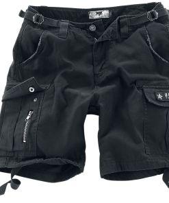 Black Premium by EMP Army Vintage Shorts Girl-Shorts schwarz