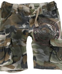 Rock Rebel by EMP Army Vintage Shorts Shorts camouflage