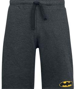Batman Logo Vintage Shorts anthrazit meliert