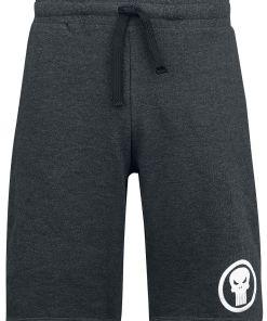 The Punisher Logo Shorts anthrazit meliert