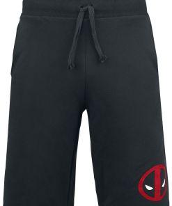 Deadpool Logo Shorts schwarz