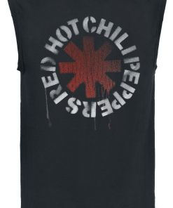 Red Hot Chili Peppers Stencil Asterisk Tank-Top schwarz