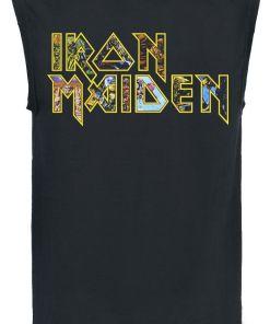 Iron Maiden Eddie Logo Tank-Top schwarz